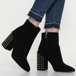 Jessica Simpson Black Faux Suede Studded Booties